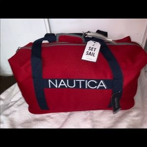 Nautica Hayes Point Red/Netural gray duffel bag